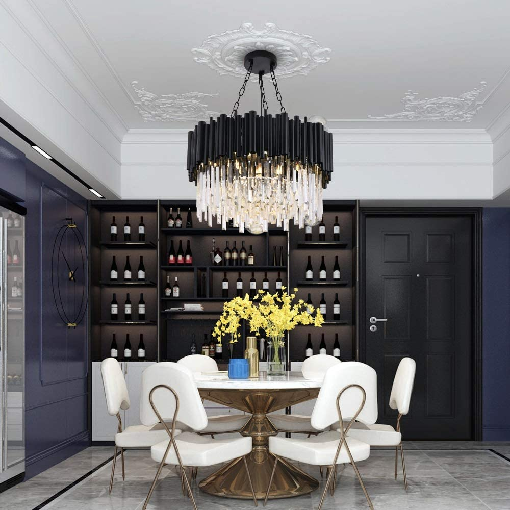 GUADANG Black Modern Chandelier Lighting for Daily bargain sale C Living Round Our shop OFFers the best service Room