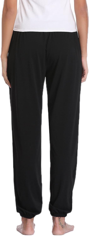 Aibrou Pajama Pants for Womens Cotton Stretch Knit Lounge Pants Bottoms