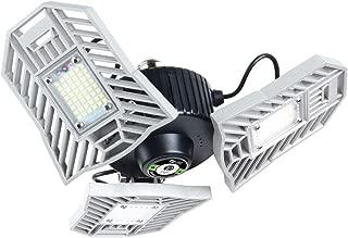 LED Garage Lights, 6000 Lumens Garage Light 6000K Daylight 60W Garage Lighting Fixtures E26 Flexled Garage Light Bulb Deformable LED Garage Ceiling Lights for Garage, Basement, Workshop, Barn