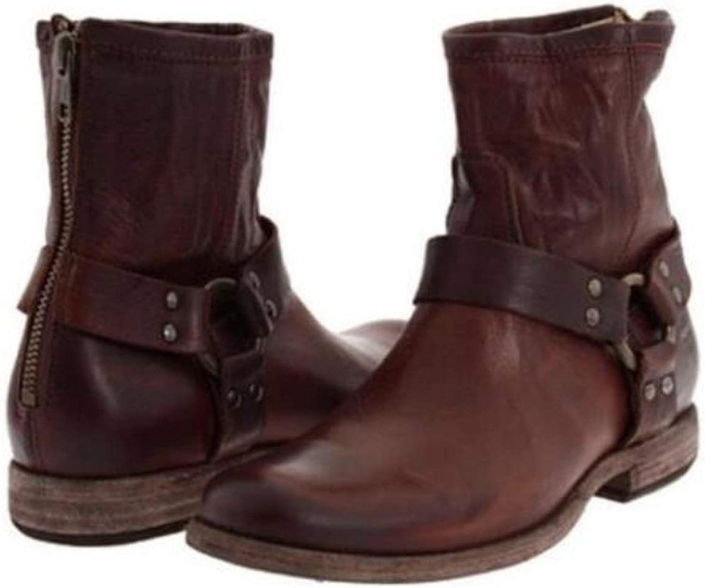 Knee high bootiesn Cross-Tied Riding Boots Women shoes Zip Rivets shoes