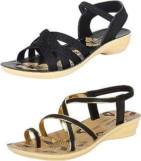 Bersache Women Multi Combo Pack of 2 Sandal & Floaters