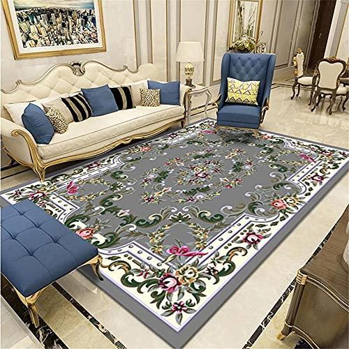 tappeti stanza da letto Modello floreale dell'annata grigia del tappeto del salone con il lavaggio resistente dell'acqua del tappeto Grigio tappeto sedia gaming 40X60CM tappeti morbidi camera da letto