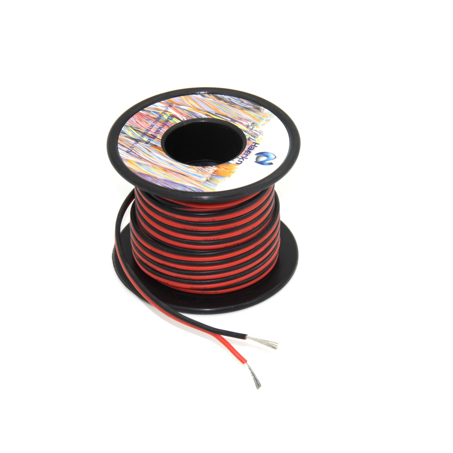 10 Gauge Electrical wire Marine Grade Primary wire Cable High Voltage 1000V Automotive high temperature wire battery cable 10 AWG Stranded of Tinned copper Hook up wire Hard wires 25FT Black Roll