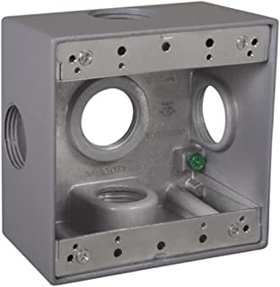Gray TayMac TB775S 3-Gang Weatherproof Box with Seven 3//4 in Outlets