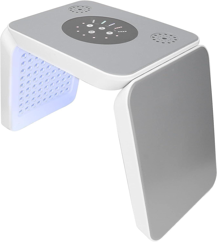 YOIM Terapia de luz Facial LED, 225 Chips ópticos Fuente de luz LED Benefit Máquina de Terapia de luz LED Gran Angular Ajustable Máquina para el Cuidado de la Piel con mascarilla Facial(EU)
