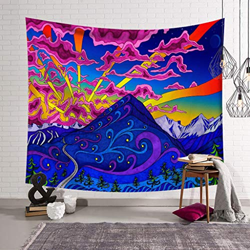 MIASDUANFA tapizHippie Home Decor Wall Tapestry Blanket Mandala Psychedelic Pattern Yoga Beach Towel Throw Carpet Wall Hanging Tapestry