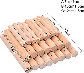 QIN インコ パロット オウム用 知育玩具 DIY アクセサリー ペット パズル 組み立てスティック 鳥のおもちゃ インコ 小鳥 小動物 おもちゃ オウム噛む玩具 ストレス解消 安全 10セット  知識 知育 MM