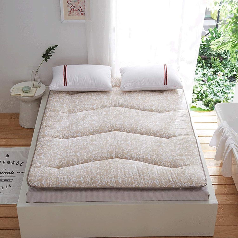 Thicken Mattress Warm Soft Moisture Absorbing Bedroom Sleeping Mat Student Tatami Dormitory Mat Single Bed (color   B, Size   120X200cm)