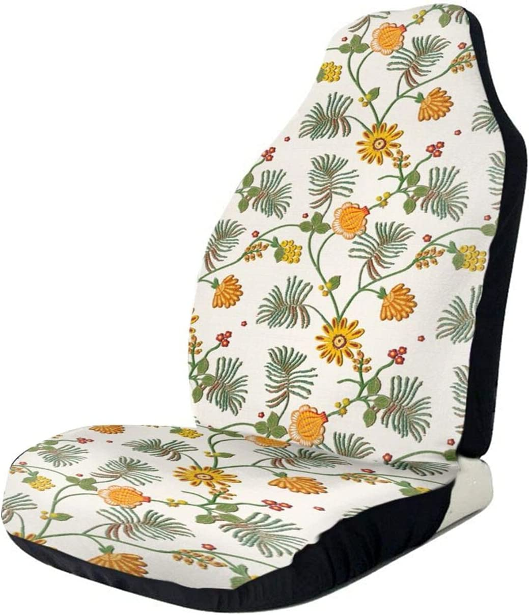 Max 78% OFF Spreading Sunflowers and Green Leaves - Car Seat Front Auto New product type