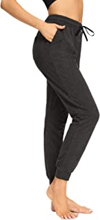 sportsnew Womens Joggers with Pockets Loose Yoga Sweatpants Casual Workout Lounge Pants Black
