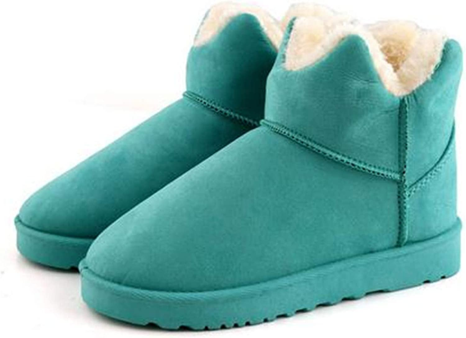 Kongsta New Women Snow Boots Fashion Fur Snow Ankle Boots Warm Winter Boots Woman shoes
