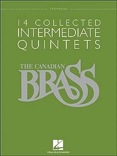 Hal Leonard The Canadian Brass: 14 Collected Intermediate Quintets - Trombone - Brass Quintet