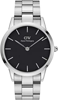 Daniel Wellington Men's Iconic Link Watch, 40mm, Silver/Black