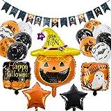 balnore Globos Halloween Decoración, Globos de Halloween Banner, Látex Globos, Globo de Lámina de...