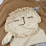 WANGZHEN Decke Kinder Handgemachte Decke Handgemachte Gestrickte Decke Klimaanlage Decke Tierform Dreidimensionale Decke-Löwe_82 * 92