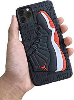 Retro Air Jordan 11 3D Textured Sneaker Shockproof Protective Grippy Case for Apple iPhone 11 Models (Bred 11s) (11 PM 6.5