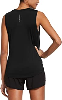 BALEAF Womens Sleeveless Workout Shirts Exercise Running Tank Tops Active Gym Tops