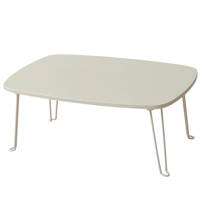 殺します通り通信網山善(YAMAZEN) 折りたたみローテーブル(75×50) ホワイト PML-7550(WH)