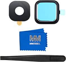 MMOBIEL Back Rear Camera Glass Lens Cover Compatible with Samsung Galaxy Note 4 N910 incl. Tweezers and Cloth (Black)