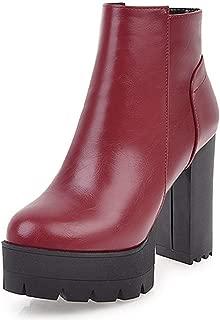 Autumn Women Ankle Chelsea Boots Platform Black High Heels Buckle Platform Heels Soft Leather Shoes
