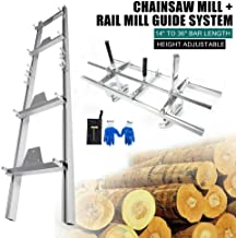Aluminum Chainsaw Rail Mill Guide System Set Saw Mill Ladder 4 Reinforce Fixed Plate Gloves