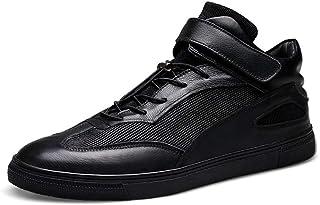 أحذية HIIHHIIHI للرجال كاجوال، أحذية رياضية للرجال والأحذية بدون كعب وبداخلات هوك حزام جلد طبيعي اللون كبير منخفضة مزودة ب...