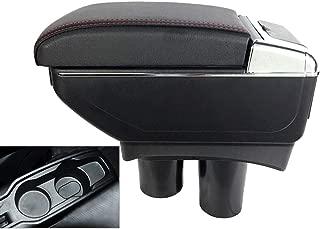SZSS-CAR Leather Car Center Console Armrest Box for Peugeot 301 / Citroen Elysee 2007 2008 2009 2010 2011 2012 2013 2014 2015 2016 2017 Armrests Storage Box(Black)
