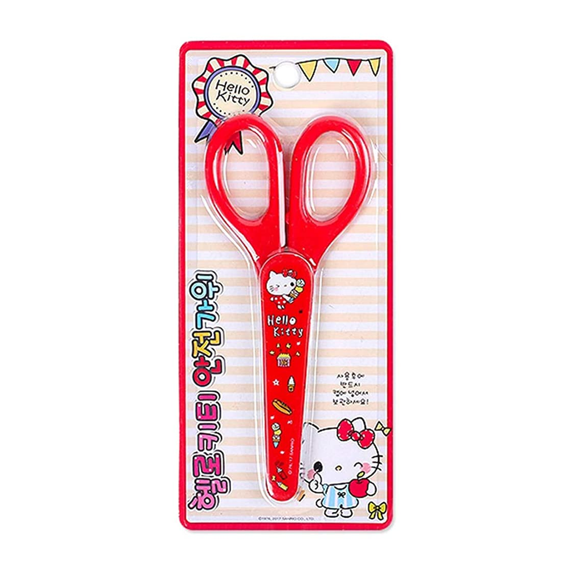 Sanrio Hello Kitty Safety Kids Scissors : Kitty Loves Sweets (Red)