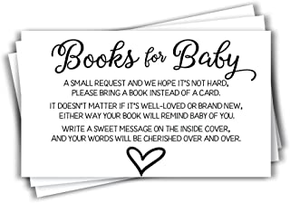 50 Gender Neutral Baby Shower Book Insert Request Cards (50-Cards)