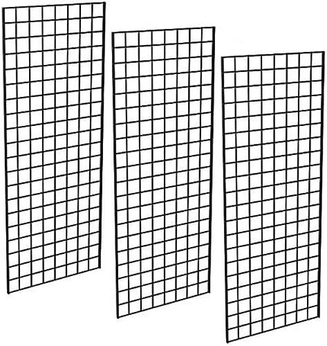 Only Garment Racks #1898BLK (3PCS) Only Garment Racks Commercial Grade Gridwall Panels – Heavy Duty Grid Panel for An...