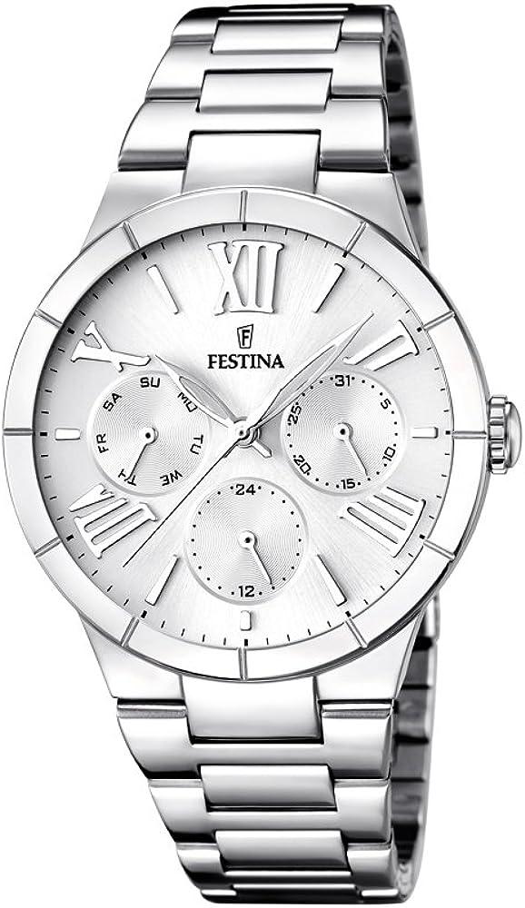 Festina orologio cronografo da donna in acciaio inossidabile F16716/1