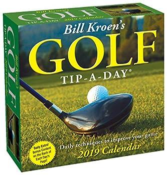 golf desk calendar 2019
