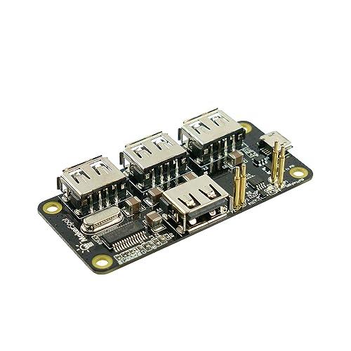4-Port OTG USB Hub Transparent Acrylic Protector Cover Case Mini HDMI Adapter with 8GB Micro SD Card MakerSpot 7-in-1 Raspberry Pi Zero W Mega Pack no PiZero Board Pin Headers