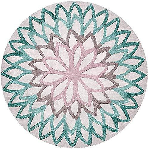 Nicole Knupfer Mandala Runde Teppich Vintage Boho Waschbar Teppich für Wohnzimmer Schlafzimmer Badezimmer Küche Beach Dekor (A2,60X60cm)