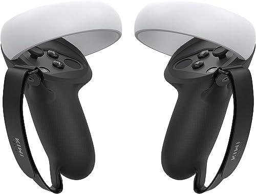 KIWI design [Version Pro] Grip de Protection pour Oculus Quest 2 Manette Oculus Quest 2 Accessoire Poignée Anti-Proje...