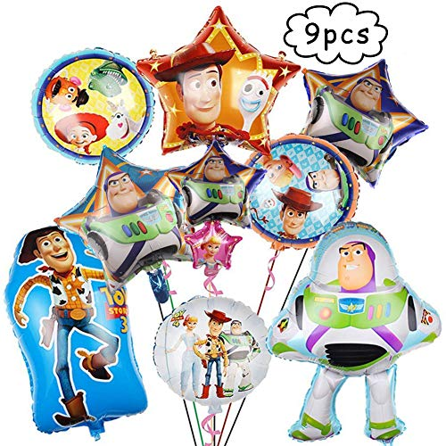 BAIBEI Birthday Party Foil Balloons,Globos de papel de Toy Story Fiesta de cumpleaños Suministros Decoración (Patrón aleatorio)