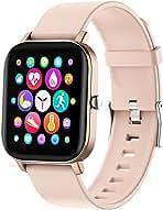 ساعت هوشمند FirYawee ، ساعت هوشمند با صفحه لمسی 1.4 اینچی ، مانیتور با فناوری IP68 ضد آب به همراه شمارش گر ضربان قلب و حالت خواب و گام شمار و فاصله سنج ، ساعت هوشمند مناسب آقایان و خانم ها برای آندروید آیفون