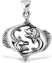 Best sterling silver pisces pendant Reviews