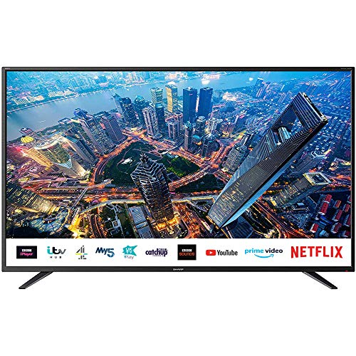 Sharp 4T-C50BJ2KE2FB (50BJ2KE) 50 Inch 4K UHD HDR Smart TV with Freeview...