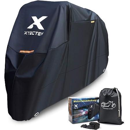 Xyzctem Motorradabdeckung Wasserdicht Extra Strapazierfähig Dicke 210d Oxford All Season Outdoor Schutz Für Motorräder Mit Einer Maximalen Länge Von 265cm Auto