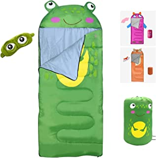 Kids Camping Sleeping Bag with Sleeping Mask, Waterproof, Durable & Lightweight, Ideal for Hiking, Camping & Outdoor Adven...