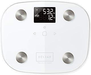 エレコム 体重計 体組成計 目標体重設定機能付き 100グラム単位測定 エクリア FS03シリーズ ホワイト HCS-FS03WH