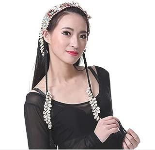 DEMON BABY 2019 Handmade High-Grade Tribal Style Belly Dance Shells Headpiece Head Rope Wig Headdress Headband