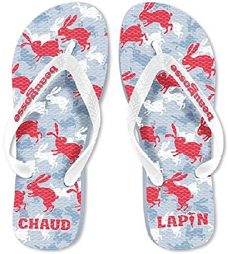VDF - Paire de tongs homme Chaud Lapin - 42/43