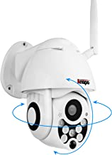 Wireless PTZ Security IP Camera Outdoor, Anspo HD 1080p WiFi Pan Tilt Zoom Dome Camera Indoor Homes, Night Vision Two Way Audio Motion Detection CCTV Surveillance Cam IP66 Weatherproof