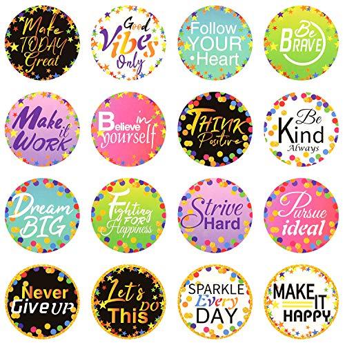 160 Pieces Confetti Positive Sayings Accents Confetti Accents Removable Confetti Stickers for Classroom Bulletin Board Decoration (Multi-Color, 5 cm)
