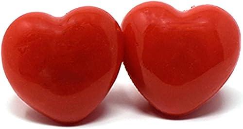 UltraByEasyPeasyStore Packungen Von 96 Blinkenden LED Rot Gef te Herz-Jelly-Stil Ringe Für Partys Party Favor Kostüme Raves Geschenktaschen Leuchten Finger Spielzeug Glühende Erwachsene Kinder Spaß