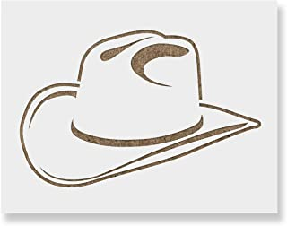 Cowboy Hat Stencil Template - Reusable Stencil with Multiple Sizes Available