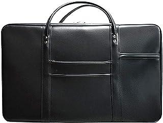 法衣鞄 [ブラック×銀線] 大寸[幅68.5×高さ42×マチ12cm] 鍵付差込錠 ハニカムフレーム&高級合成皮革 マット調 (hou03000)