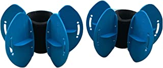 AquaLogix Blue Max Resistance Aquatic Fins - Omni-Directional Water/Drag Resistance Exercise for Lower and Upper Body Pool Workouts - Includes Online Demonstration Video (Fins Pair HRBBLS)